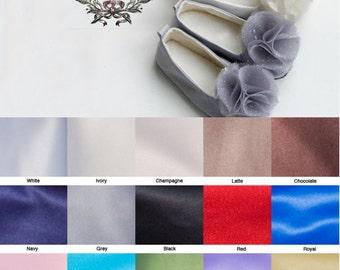 Satin Flower Girl Shoe, Neutral Colors (23 colors), Toddler Ballet Slipper, Baby Wedding Shoe, Little Girl Satin Ballet Slipper, Baby Souls