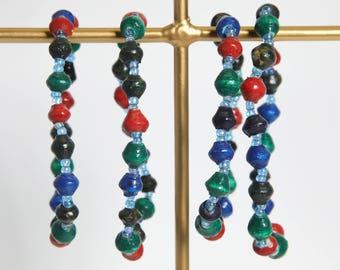 Paper Bracelet Single Stretch/Multi-Color/Medium/Recycled/DN-BR-1