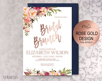 Rose gold invite