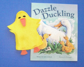 Duck Hand Puppet and Book Set, Duckling Puppet and Book