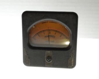 Vintage Simpson Panel Meter 0-3 DC Amperes - Niehoff Chicago