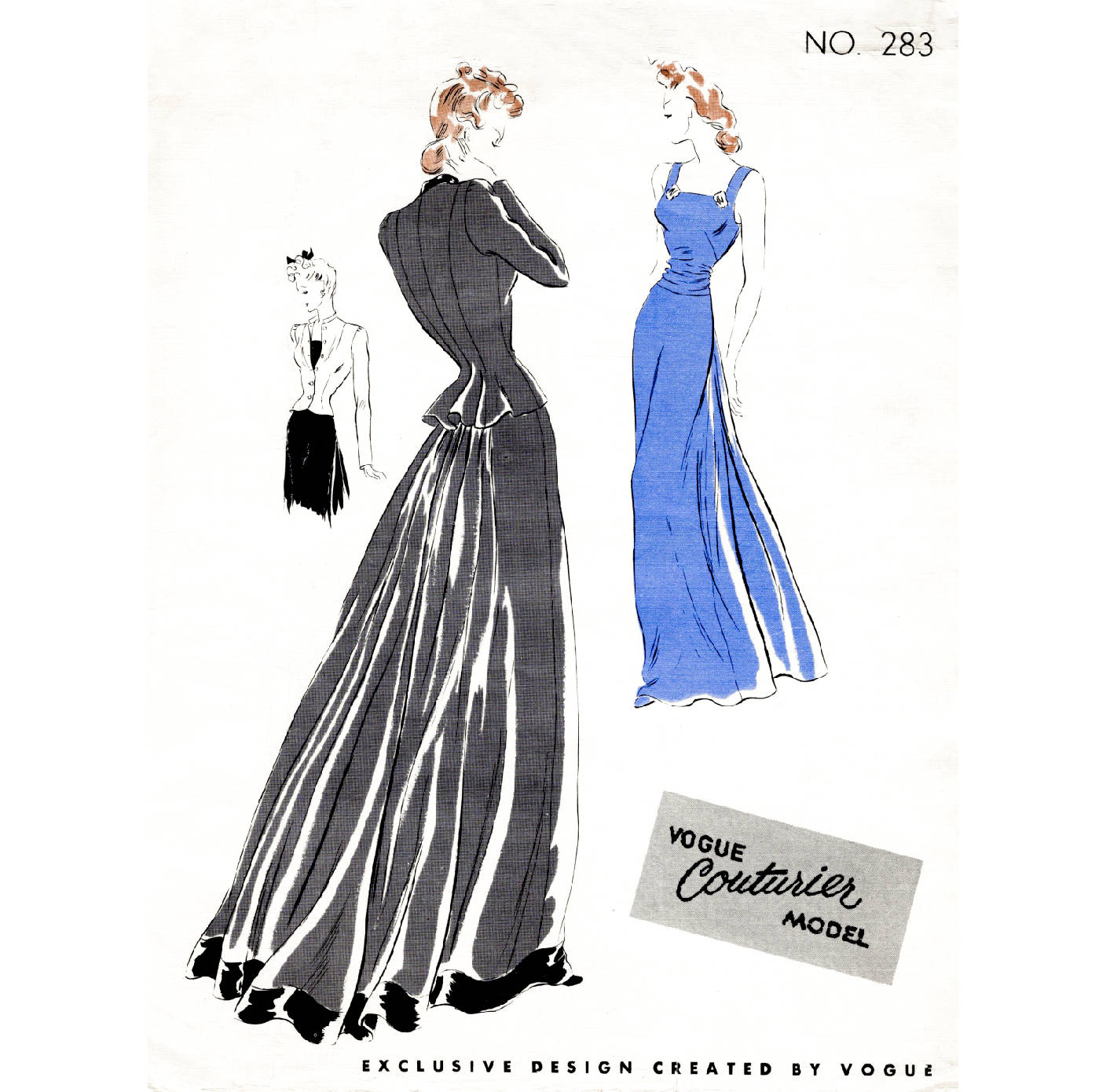 1930s 30s Evening Gown & Jacket Pattern Reproduction // Fitted