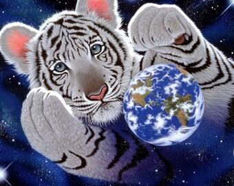 Cross stitch tiger - Counted cross stitch pattern - Animal cross stitch - Cross stitch planet Earth - Cross stitch cosmos - Printable PDF