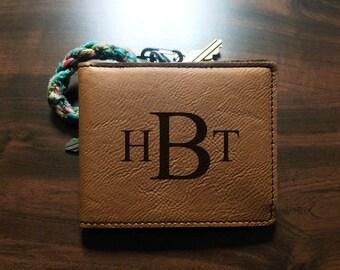 Monogrammed Bi Fold Wallet