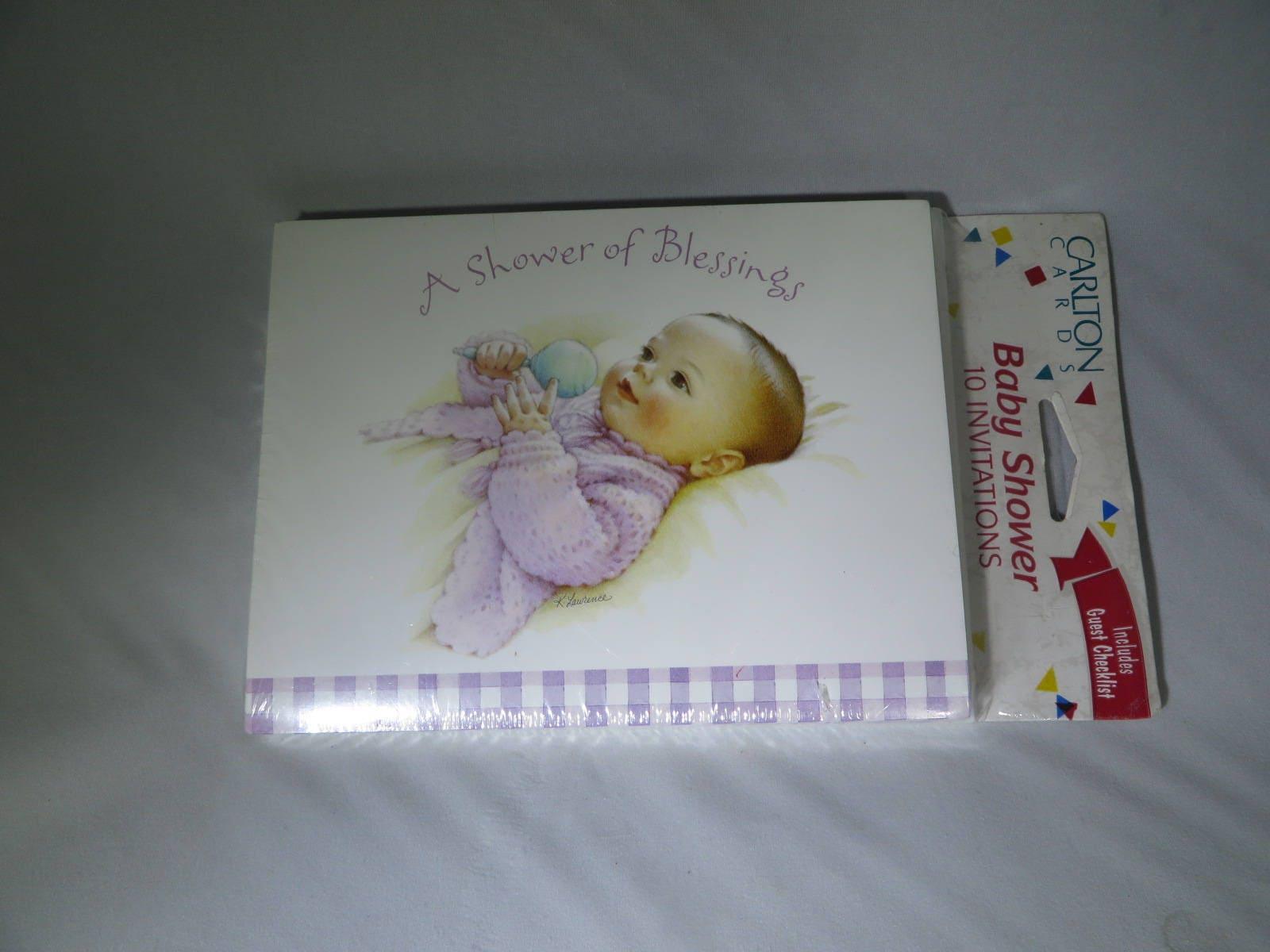 Vintage Baby Shower Invitations American Greetings Carlton