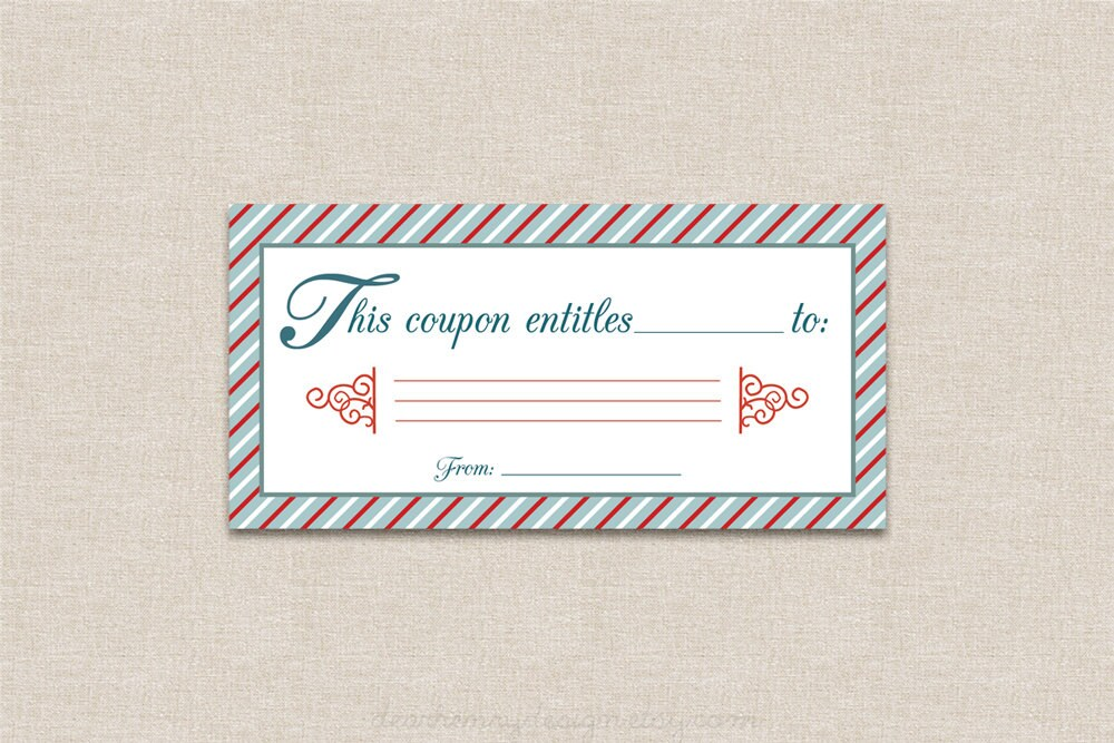 christmas coupon book template
