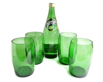 Perrier Water Glasses Stemless Wine Pint Glass Candle Holders