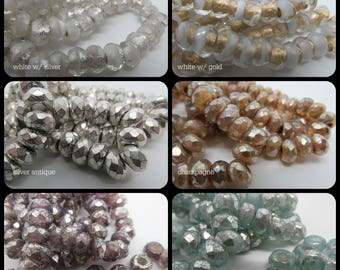 Roller Beads, 6 x 9 roller beads, Large Hole Beads, Roller Beads, Czech Glass Roller Beads, 6 x 9mm rollers, czech glass beads, Czech Glass