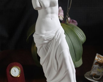 Vintage Aphrodite Statue, Antique Greek Sculpture, Venus De Milo Greek Art, Historical Gifts For Her, Greek statue, White statue