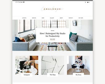 Multipurpose Wordpress Theme | Analogue | Blog and eCommerce Design | Self-Hosted WordPress.org