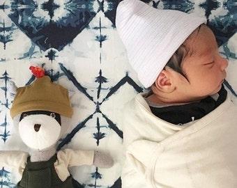 Boho Baby Bedding - Fitted Crib Sheet / Mini Crib Sheets / Changing Pad Cover / Navy Baby Bedding / Etsy Baby Bedding / Ikat Crib Sheets