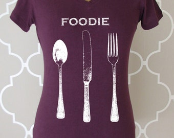 foodie gifts - food gift - chef gift - chef tshirt - cooking gifts - baking shirt - baking gifts- foodie shirt- cook gift-FOODIE-sport vneck
