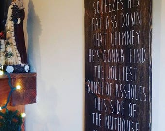 Christmas vacation sign, christmas gift, clark griswold sign, national lampoon, holiday decor, christmas gift