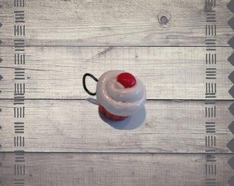 Cupcake With Cherry Charm