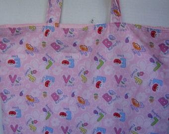 Large Tote-Sesame Street Alphabet (Bag 339)