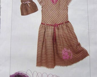 PATTERN sewing patterns and work - dresses for girl and Doll signed GIBBERISH REF. 38