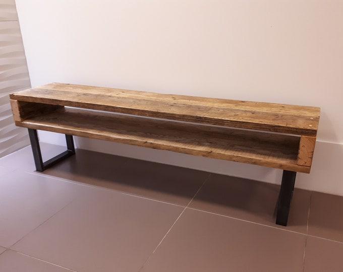 Industrial Style Reclaimed Scaffold Board & Steel Sideboard \ TV Unit \ Console Table