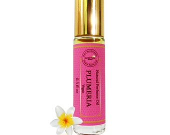Organic Plumeria Perfume Oil Roll On, Vegan Perfume, Gift Idea