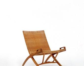 Original and rare Hans Wegner JH-512 Folding Chair for Johannes Hansen, Denmark