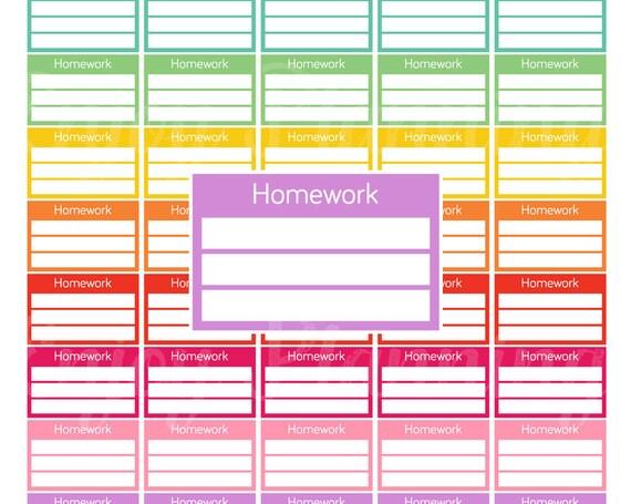 college homework planner