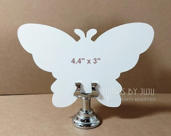 White Butterfly Wedding Favors Bride Groom Advice Table Numbers Baby Shower Butterfly Place Cards Paper Butterfly Wing Wedding Table  4.4x3