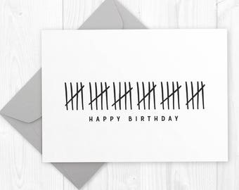 Happy 30th Birthday printable card - DIY instant download Funny Humor Birthday Card for boyfriend, husband, best friend