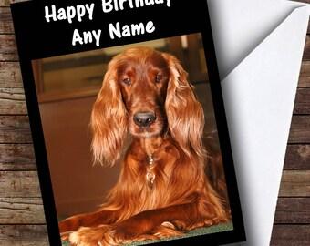 Irish Setter Personalised Birthday Card