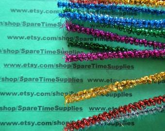 "Loopy Tinsel Stems - multi color - 6 mm x 12"" - 12 pcs - Fibre Craft - #3271-59"