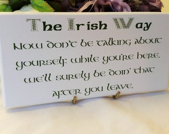 Irish gift ideas, handmade wooden sign, handmade in ireland, Funny verse, house decor, gift ideas for friends, 203