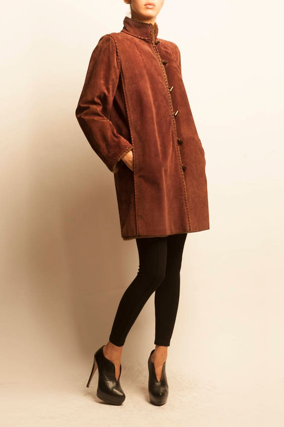 Yves Saint Laurent fourrure 1980's fur coat