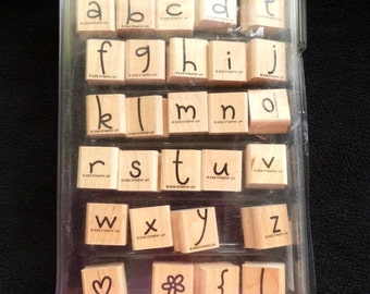 Stampin Up!  Best Friends  - Lower Case Letters  - Alphabet -  WM Rubber Stamp (28)