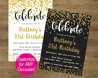 Adult birthday invitation etsy adult birthday invitations adult party invitations gold birthday invitation adult birthday invites adult filmwisefo Image collections