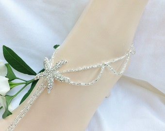 Barefoot Sandals, Bridal Foot Jewelry, Starfish Barefoot Sandle,Beach Wedding Sandals
