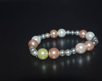 Pink and Blue Bracelet with a hint of Green