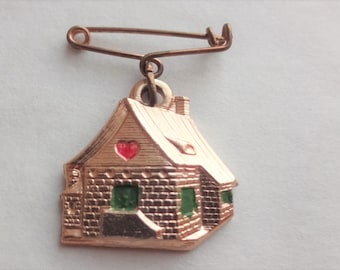 Beato Sante House Shaped Vintage Religious Medal