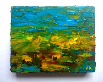 Abstract Artwork Original Oil Painting Oil Canvas Wall Art Decor Abstract Painting Impasto Oil Canvas Unique Art Gift Husband Gift for Him
