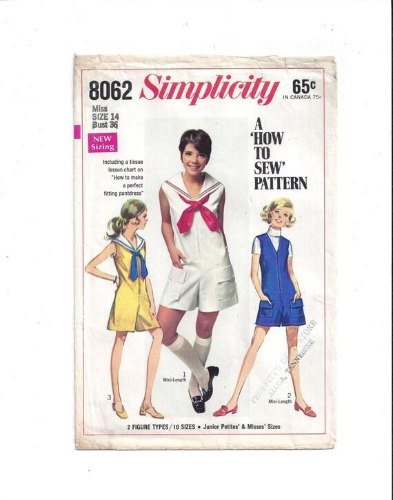 Einfachheit 8062 Schnittmuster für Misses Hose Kleid Hose