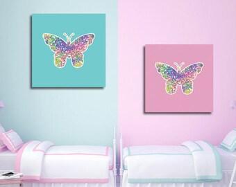 2 poster poster Butterfly room decor children wall instant download 5 X 5 8 X 8 10 X 10 12 X 12 15 X 15 16 X 16 18 X 18 20 X 20 30 X 30 50 X 50