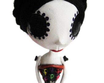 Custom Art Doll - Day of the Dead Doll - OOAK Art Doll - Dia de los muertos - Mexican Art
