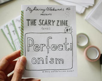 Personal zine about perfectionism / mini zine / The Scary Zine series / DIY