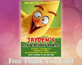 Angry Birds Invitations / Angry Birds Birthday Invitation / Angry Birds Party / Angry Birds Invitation Card / Angry Birds Invitation / AB05