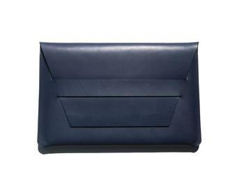 Leather PORTFOLIO ENVELOPE | NAVY