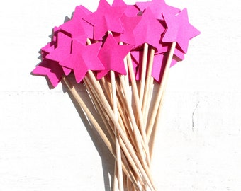 20 stars Toothpicks, Double Sided, Party Picks, Cupcake Topper, Baby Shower Decoration, Birthday Pick, place cards,