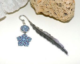 Polymer clay and metal bookmark