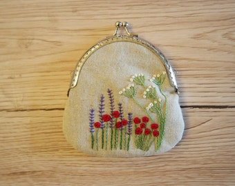 Embroidered Purse Craft Kit Embroidery Kit Sewing Kit Hand Embroidery Kit Craft Kits for Adults Embroidery Pattern Embroidery Design DIY KIt