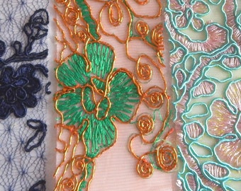 Adhesive lace fabric, use for scrap booking, party packaging, gift-wrapping, decorative effects, 2 inch x 5 inch