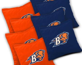 Officially Licensed Bucknell Bison Cornhole Bags Set of 8 - Top Quality - Regulation Cornhole Bags - Bean Bags