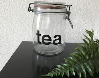 Glass Tea container jar