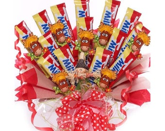 Milky Bar Kid chocolate bouquet, milky bars with chocolate horses, ideal gift for kids or parties, novelty chocolate gift idea, birthdays