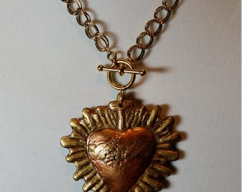 Sacred Heart III Pendant Necklace